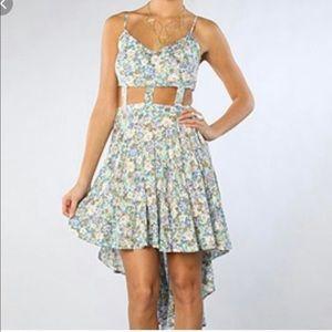 • Reverse Brand • Hi/Lo cut-out dress ⭐️